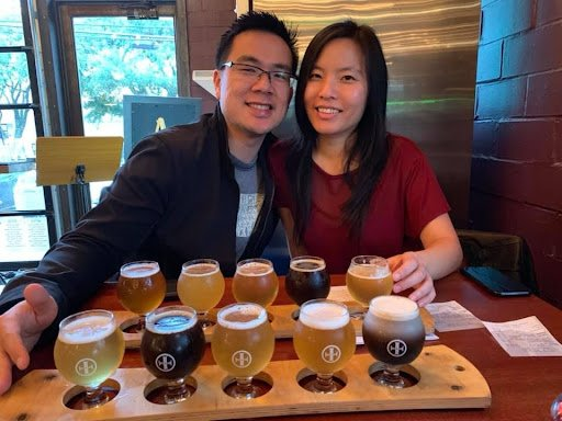 Dr. Dan Su with his wife